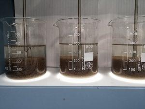 Jartesten met kationisch zetmeel met slib van de rwzi Dronten